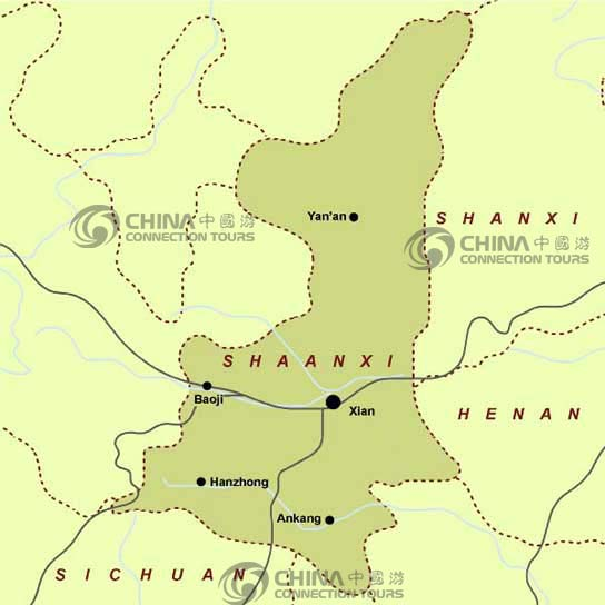 Shaanxi Provincial Map...