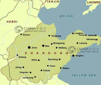 Shandong Location Map
