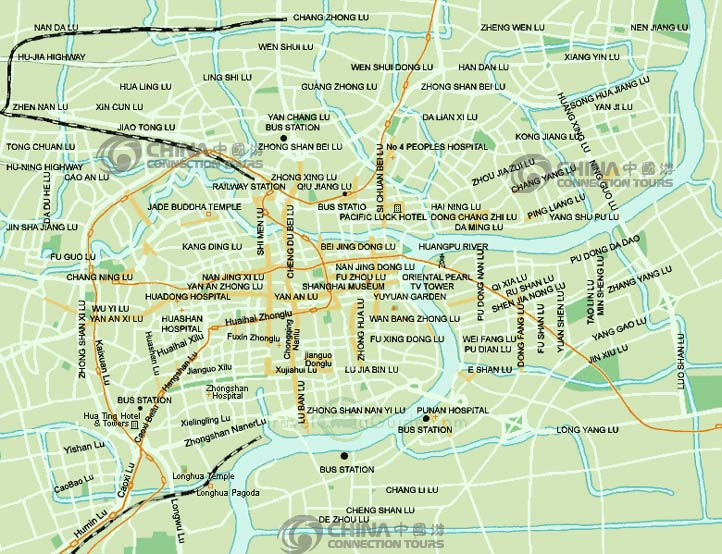 Shanghai City Map, Shanghai Map, Shanghai Travel Guide