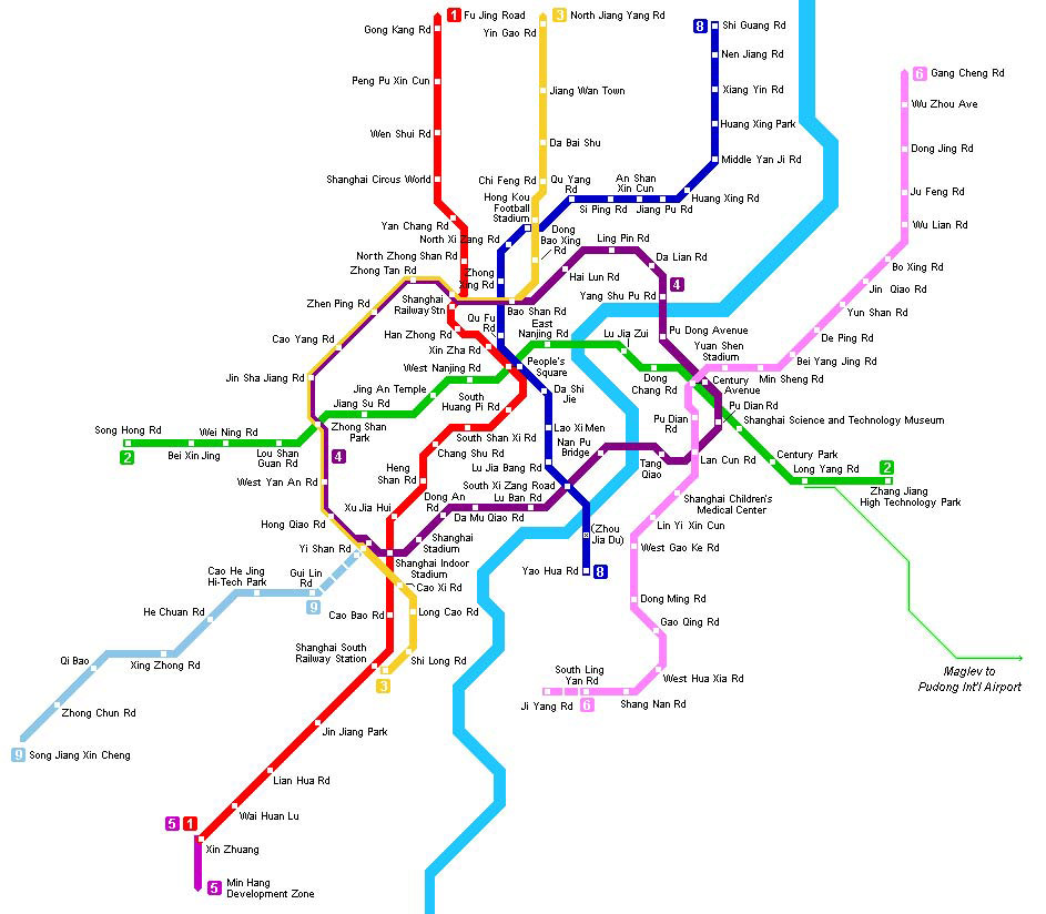 Shanghai Subway Map China Shanghai Subway Map Shanghai Travel Guide – Shanghai Tourist Attractions Map