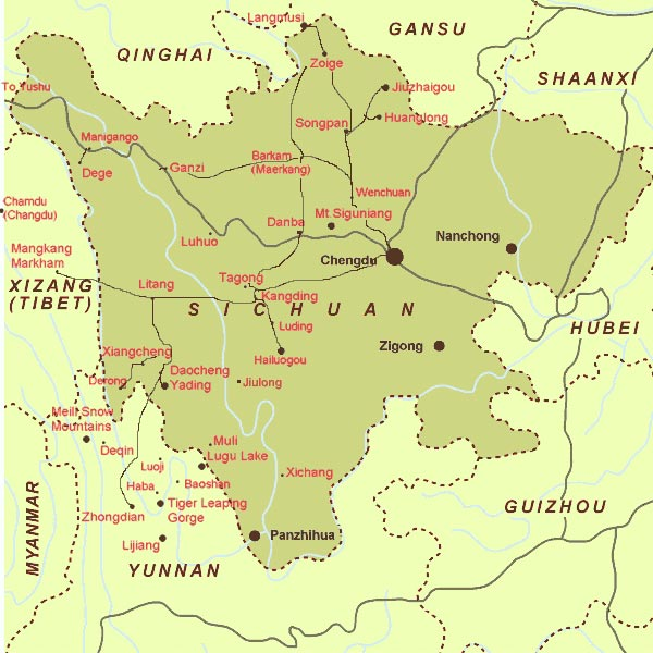 Sichuan Provincial Map, China Sichuan Provincial Map ...