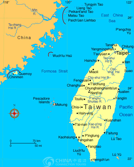 Taiwan Tourist Map China Taiwan Tourist Map Taiwan Travel Service
