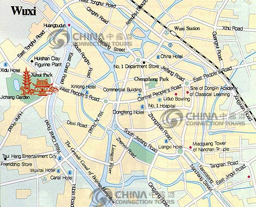 Wuxi City Map, Wuxi Maps, Wuxi Travel Guide