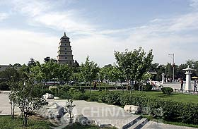 North Square of the Big Wild Goose Pagoda, Xian Attractions, Xian Travel Guide