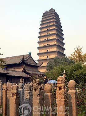 Horse tying Pole in Xian Small Wild Goose Pagoda, Xian Attractions, Xian Travel Guide