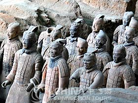 Standing Soldiers of Terra-cotta Warriors and Horses Museum, Xian Attractions, Xian Travel Guide
