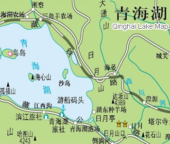 Qinghai Lake Map, Xining Maps, Xining Travel