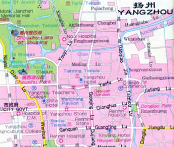 Yangzhou City Map, Yangzhou Maps, Yangzhou Travel