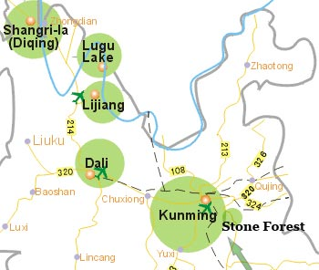 Yunnan Tourist Map