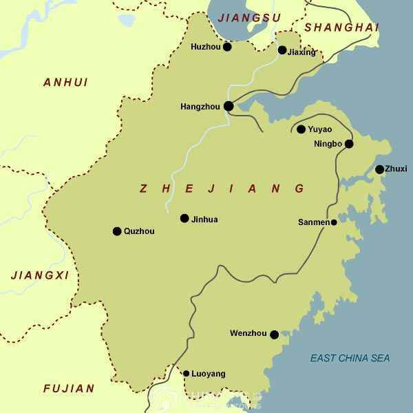 Zhejiang Provincial Map, Zhejiang Maps, Zhejiang Travel Guide