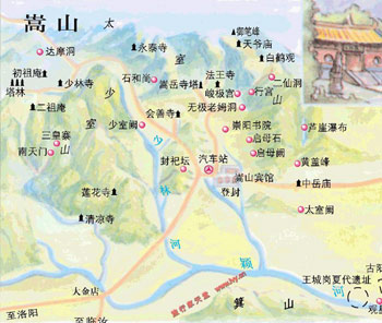 Songshan Tourist Map