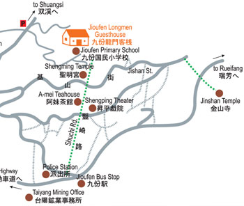 Map of Jinshan Temple