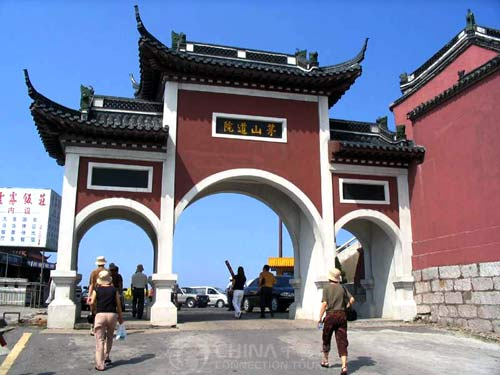 Mountain Mao Taoist Temple Gate, Zhenjiang Attractions, Zhenjiang Travel Guide