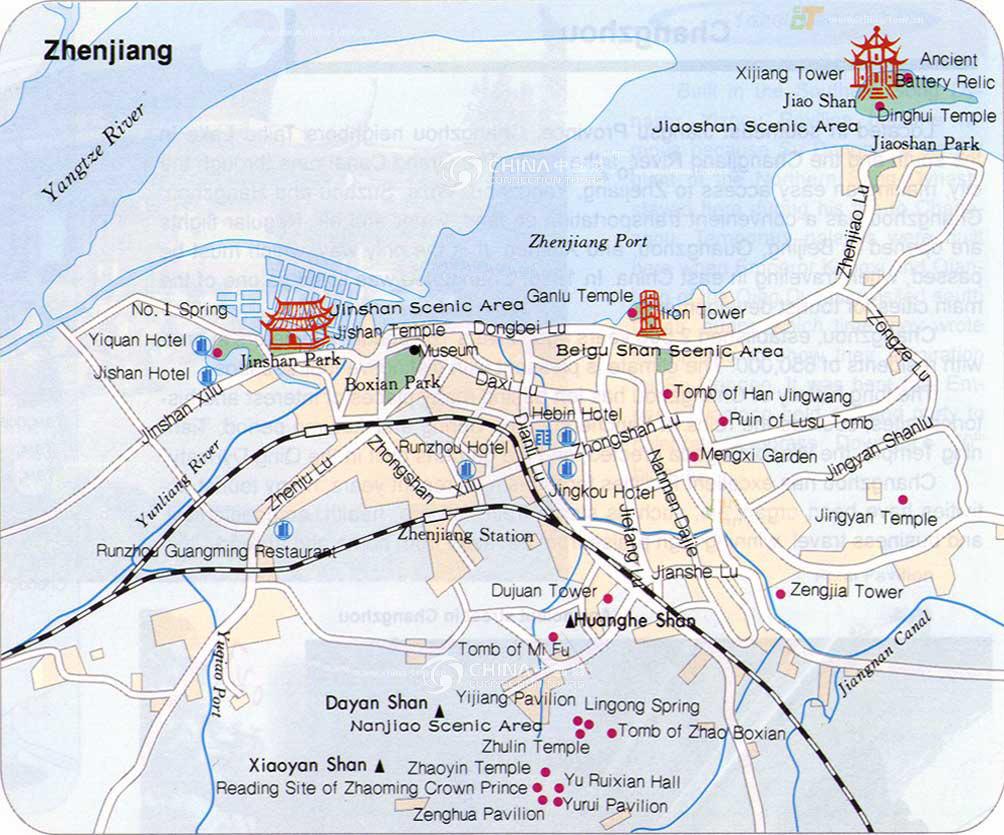Zhenjiang China  city photos : Zhenjiang City Map, China Zhenjiang City Map Zhenjiang Travel Guide